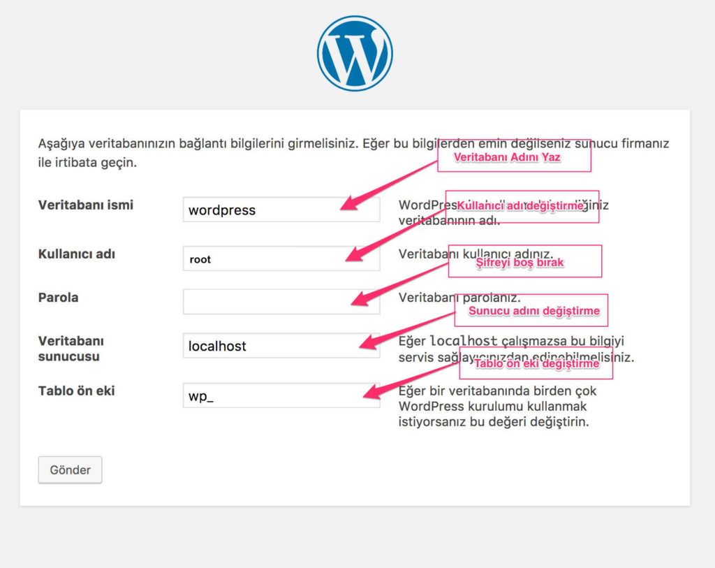 Localhost'a Wordpress Kurulumu