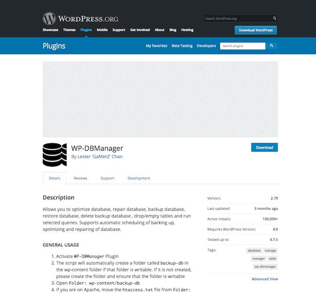 WordPress Veritabanı Optimize Etme & Optimize Eklentileri