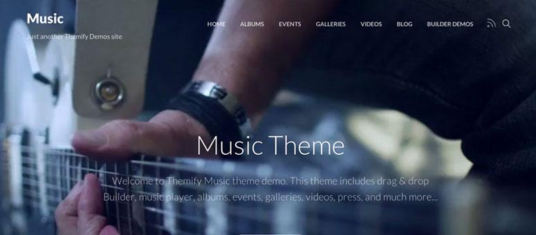 Müzisyenler ve Müzik Grupları için 13 En İyi WordPress Temaları (2019)