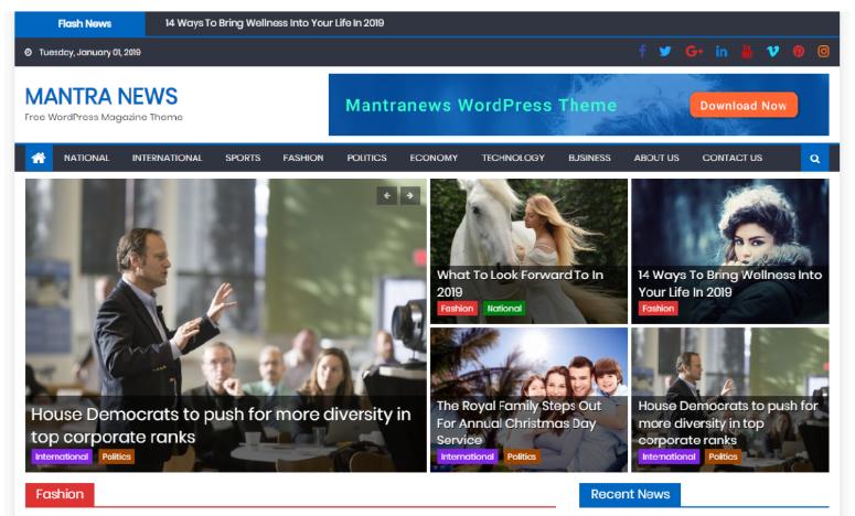 2019'Un 13 En İyi Ücretsiz WordPress Blog Temaları
