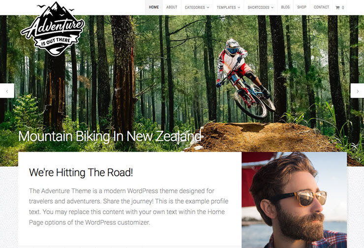 adventure v3 wordpress theme