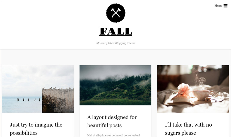 fall wordpress blog theme