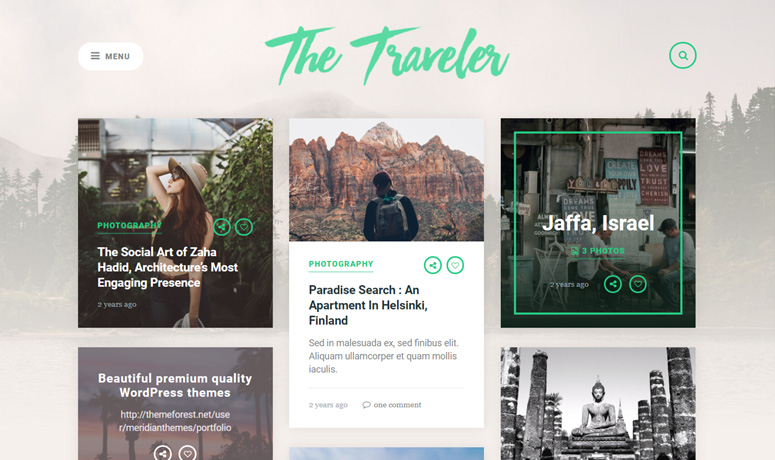 the traveler wp theme