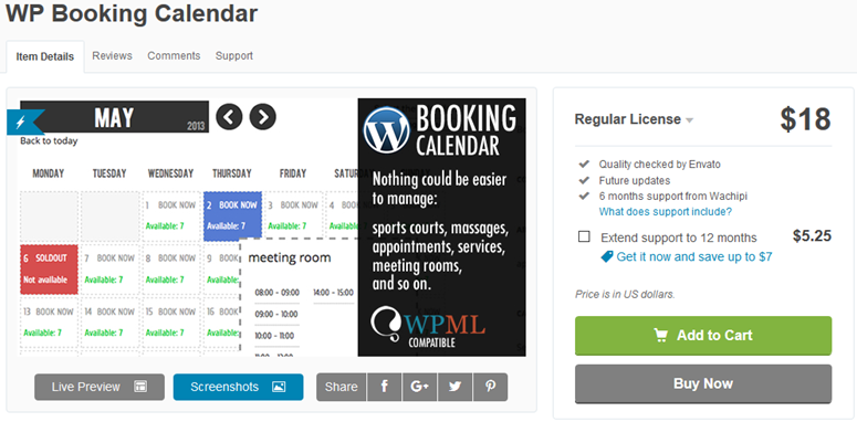wp booking calendar