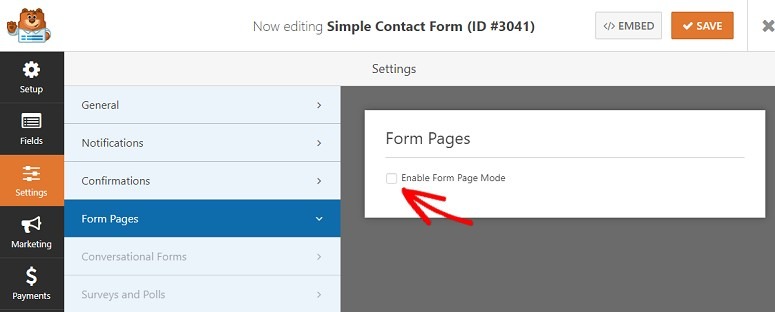 WPForms Builder addon