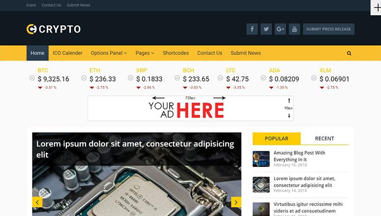 2020'nin En İyi 13 WordPress Kripto Para Teması
