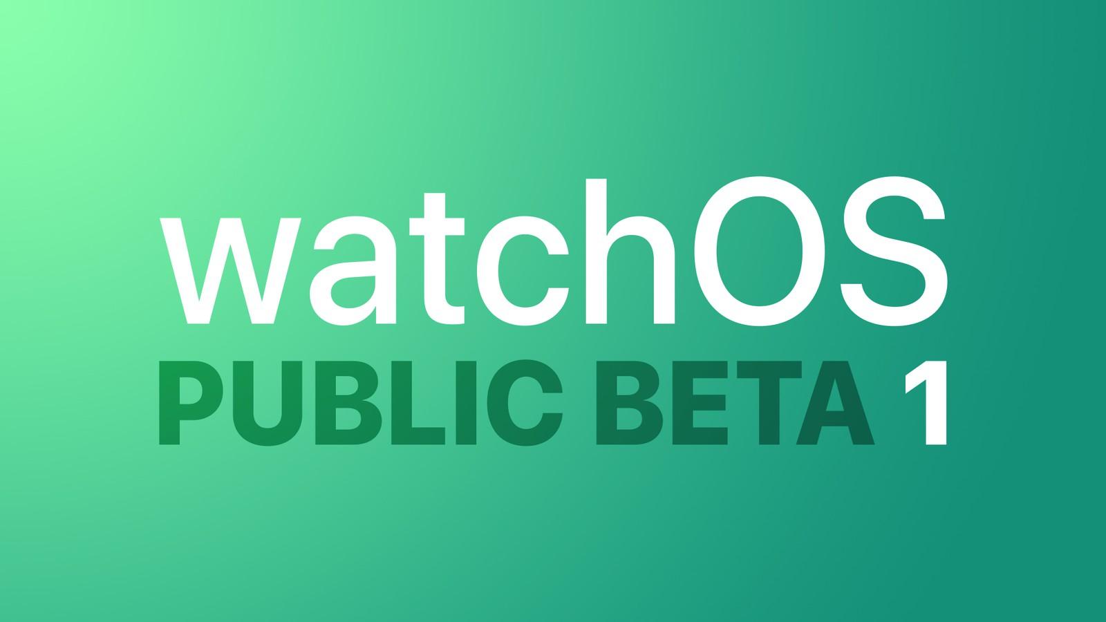 Apple, watchOS 7'nin Halka Açık İlk Betasını Yayınladı