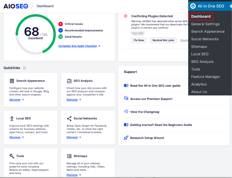 allinoneseo dashboard