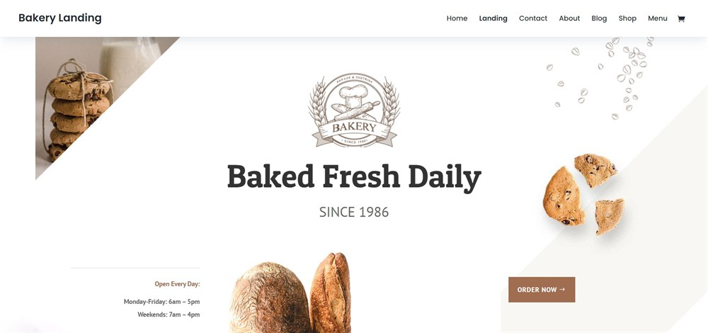 Bakery Divi theme demo