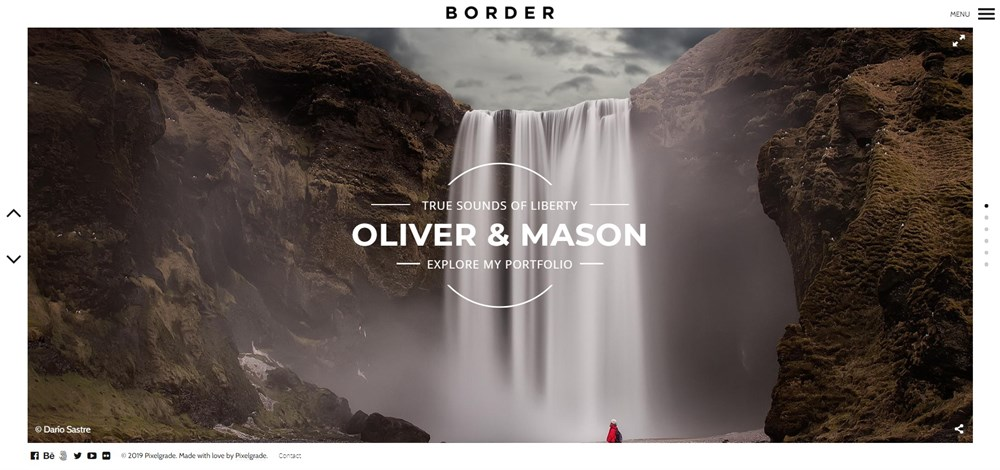 Border Photography WordPress Theme