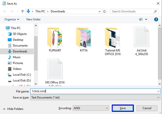Microsoft Office 2016 Programsız Etkinleştirme