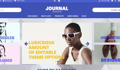 Opencart Journal 3 Tema İncelemesi
