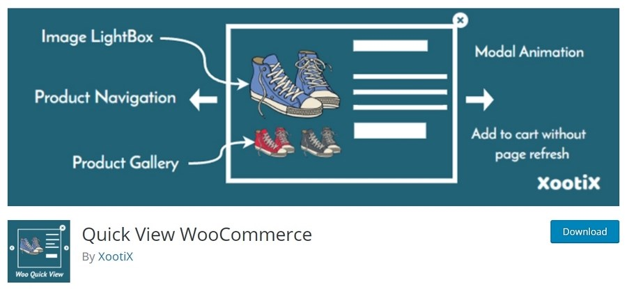 Quick View WooCommerce free plugin